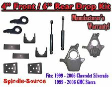 "4"" - 6"" Lower Drop Kit 99 - 06 Chevy Chevrolet Silverado GMC Sierra 1500 Shocks"