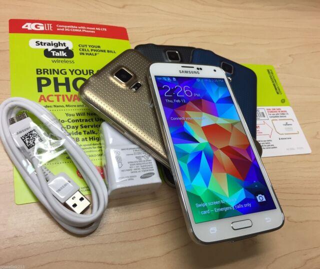 Samsung Galaxy S5 (Straight Talk Verizon) Black White Gold Blue 16GB or 32GB