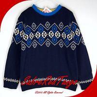 Hanna Andersson Swedish Nordic Sweater Navy Blue 110 6