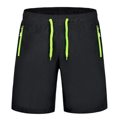 US Sale Men Summer Surf Boardshorts Knee Length Zipper Pocket Beach Shorts 9XL