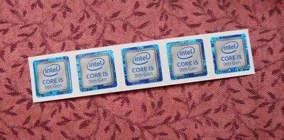 11//16 x 11//16 1026 Intel Core i5 vPro 9th Gen Sticker 18 x 18mm