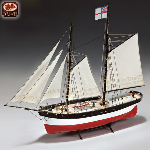 Amati Hunter Q Ship 1 60th Scale Wooden Model Ship Kit HPS 1450