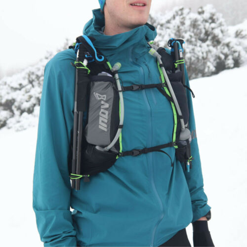 Black Green Sports Breathable Inov8 Mens Race Ultra Pro 2 in 1 Running Vest