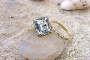 5Ct-Emerald-Cut-Blue-Aquamarine-Women-Bridal-Ring-Set-14K-Yellow-Gold-Finish