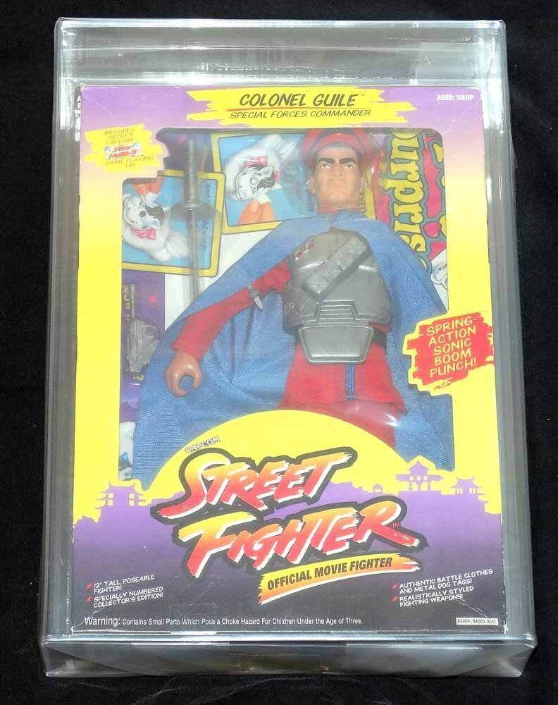 "Street Fighter M. Bison 12"" Salesman Sample 1993 GI Joe Hasbro CIB AFA 80 85 85"