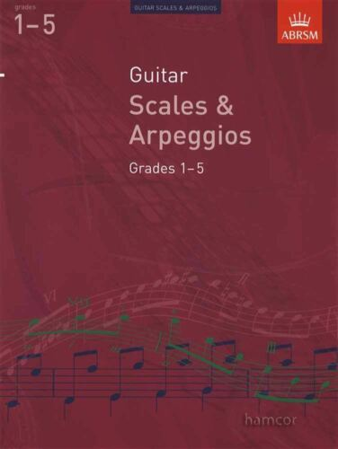 Guitar Scales /& Arpeggios Grades 1-5 ABRSM Classical Guitar Exam Music Book