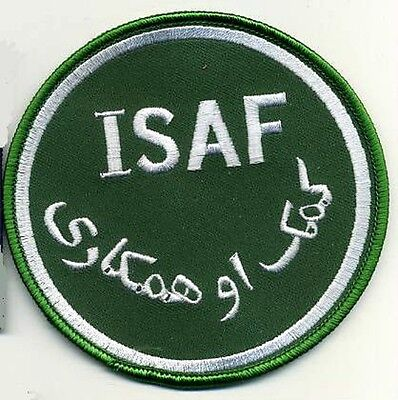 JSOC NATO ISAF ALLIED SECURITY FORCES OPERATOR SHOULDER PATCH: ISAF INSIGNIA