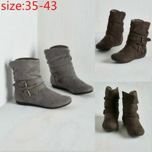 9fe357c7348b5 Boots Womens Winter Suede Short Boots Fashion Warm Soft Pumps Casual Ankle  Shoes Plush