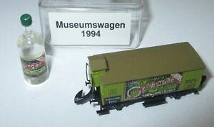 Maerklin-Z-Museumswagen-1994-Kuehlwagen-mit-Brh-034-Goeppinger-034-mit-Flasche-gt-Neuw-OVP
