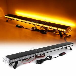 Details About 50 Led Light Bar Amber Emergency Beacon Warn Strobe Tow Plow Truck Black House
