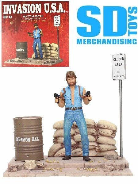 SD Juguetes invasión U.s.a. Chuck Norris como Matt Hunter De Lujo Diorama Nuevo En Stock