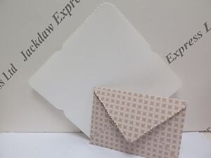 c6 plastic envelope template with scalloped back flap to take a6