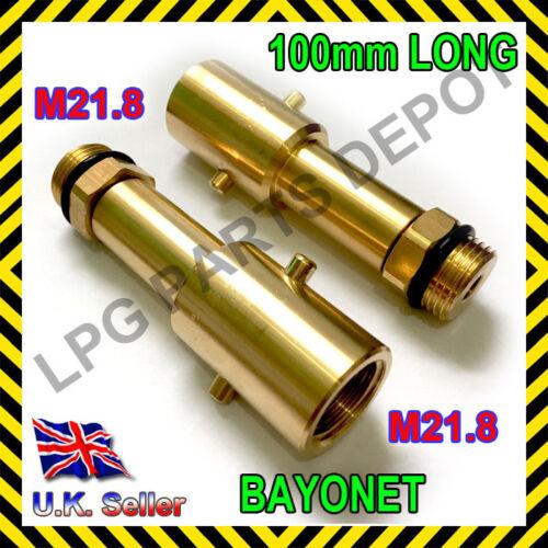 autogas refuel car M21.8 LPG GPL Adaptor BAYONET 100mm LONG gas refill