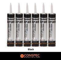 Geocel Rp-400 Wet Dry Roof Cement & Leak Stopper Roof Patch 10oz Black 6-tubes