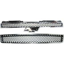Grille For 2007 2014 Chevrolet Tahoe Set Of 2 Upper And Lower Plastic Fits 2007 Chevrolet Suburban 1500