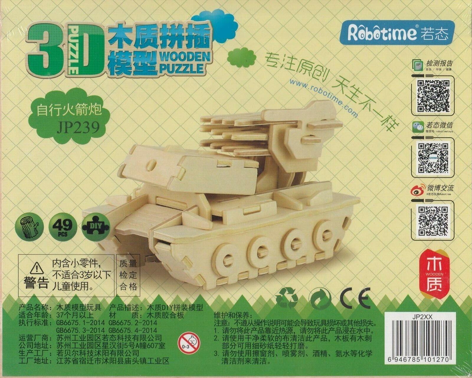 Robotime – Wooden 3D Puzzle – Panzer (JP 239)