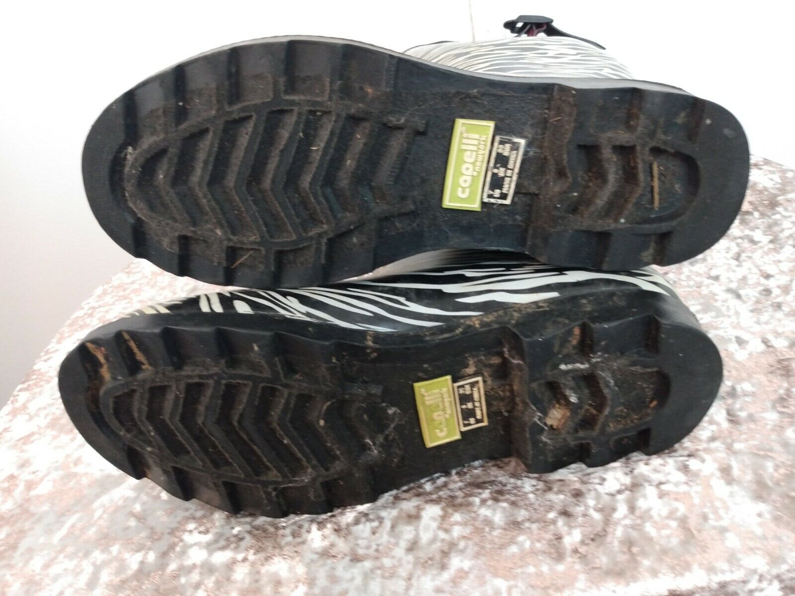 Capelli Zebra Print Rain Boots with Adjustable Ca… - image 6
