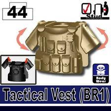 Dark Tan M08 Tactical Vest for LEGO army military brick minifigures