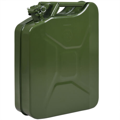 Jerry Can Metal Green Military Design Water Tank Pouring 20L Large Set Choice