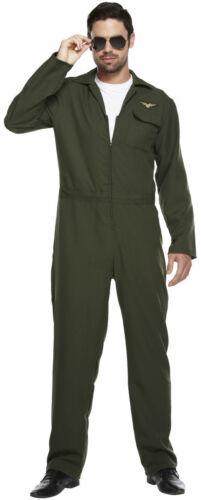 MENS AVIATOR PILOT  COSTUME  SUIT FANCY DRESS OUTFIT