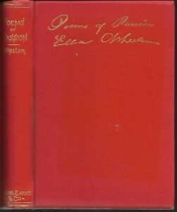 Details About Poems Of Passion By Ella Wheeler 1888 Edition Hardcover 1883