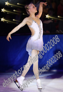 Shiny Ice Skating Dress.Competition Figur Skating Dress.Twirling Dance Costume