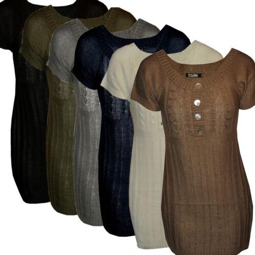 S//M M//L  verschiedene Farben Grobstrick Strickkleid Kleidchen