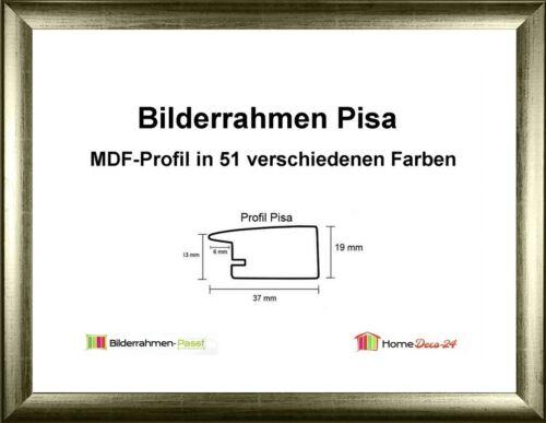 Pisa MDF-Bilderrahmen Metall I von 30 x 30 bis 30 x 39 cm