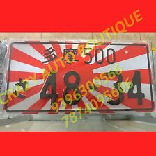 UNIVERSAL JAPANESE JAPAN LICENSE PLATE ALUMINUM TAG JDM RACING red black withe