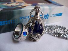 Blue Puella Magi Madoka Magica Sayaka Miki Soul Gem Cosplay Necklace and Ring
