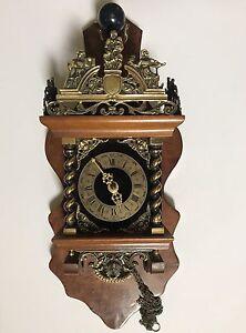 Vintage Zaanse Atlas Wall Clock Hubert Herr Germany Ebay
