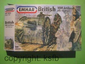 1-35-1-32-Emhar-3502-WKI-Britische-Artillerie-Kanone-18-Pfuender-Bedienung
