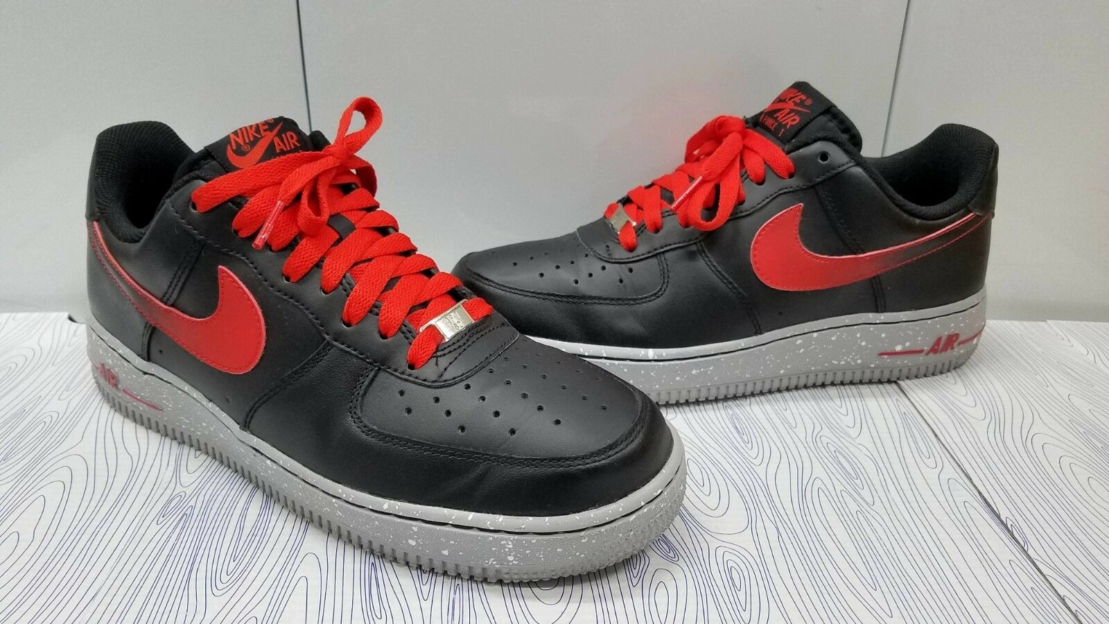 50df589d86 NIKE AIR FORCE ONE SIZE 8 CHALLENGE RED BLACK GREY 488298-070 2012 LOW MEN'S  ntifcr764-Athletic Shoes