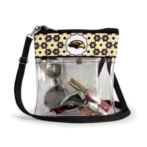 5670a6b0072dd Details about SOUTHERN MISS GOLDEN EAGLES CLEAR GAME DAY CROSSBODY BAG  STADIUM APPROVED PURSE