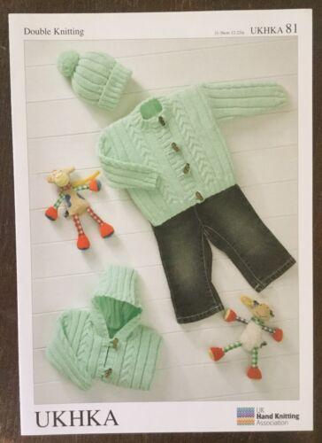 Bebé Tejer patrón dk-UKHKA 81-chaqueta y sombrero