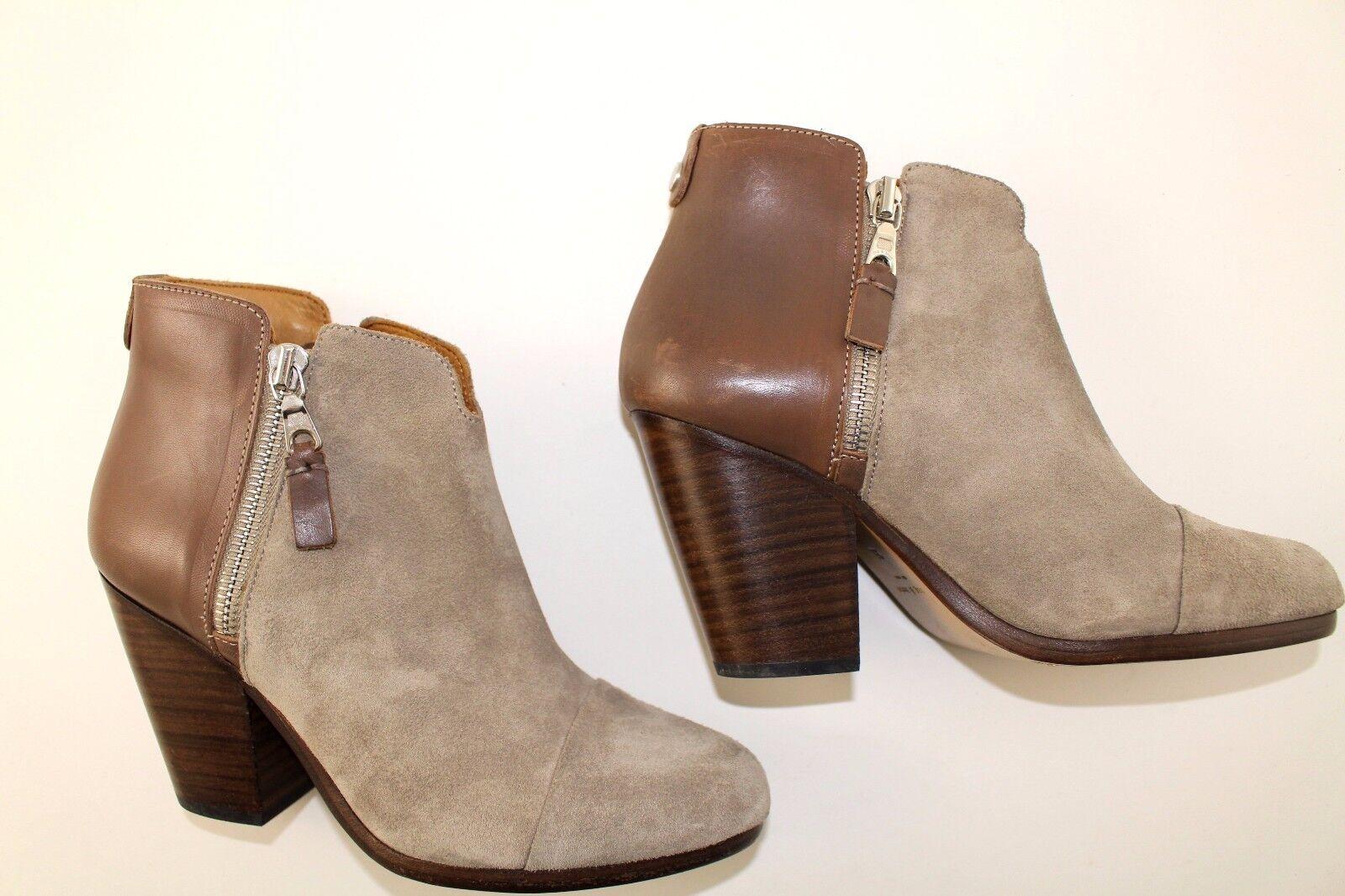 525 RAG & BONE Margot Stone combo Suede   Leather Booties sz EU 35   US 5 grey