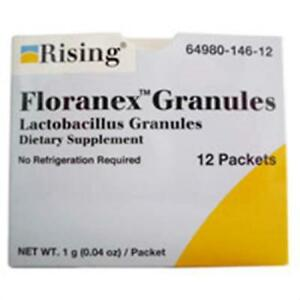 Details about Floranex Antidiarrheal Agents Granules - 12 Ea by RISING  PHARMACEUTICALS