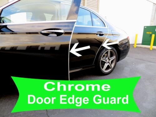 Fit 2001-2018 LandRover CHROME DOOR EDGE GUARD Protector Trim 4pcs Kit