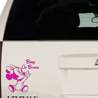 Minnie Mouse Baby baby On Board Car Window Van Jeep Suv Vinyl Decal Sticker