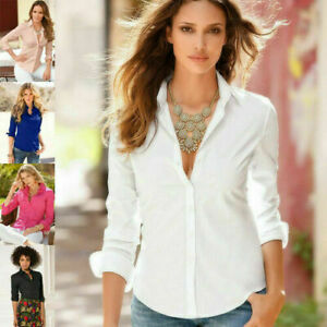 Spring-Summer-Women-Long-Sleeve-V-Neck-Chiffon-T-Shirt-Casual-Blouse-Loose-Top