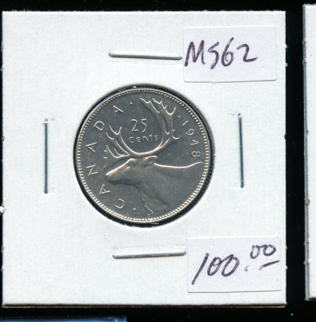 1948 Canada 25 Cents MS62 DCD52