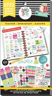 Details about MAMBI-Create 365 The Happy Planner - TEACHER Sticker Book -  1733 pc