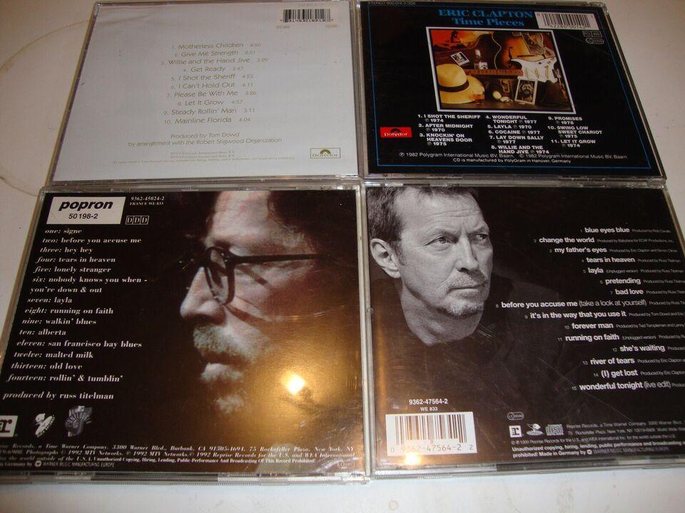 ERIC CLAPTON.: 9 stk Eric Clapton., rock