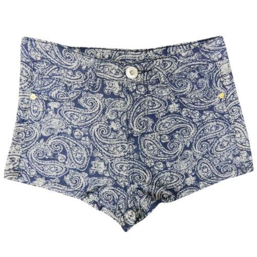 NEW GIRLS DENIM COTTON SUMMER SHORTS BLUE SWIRL HOT PANTS AGE 7 8 9 10 11 12 13