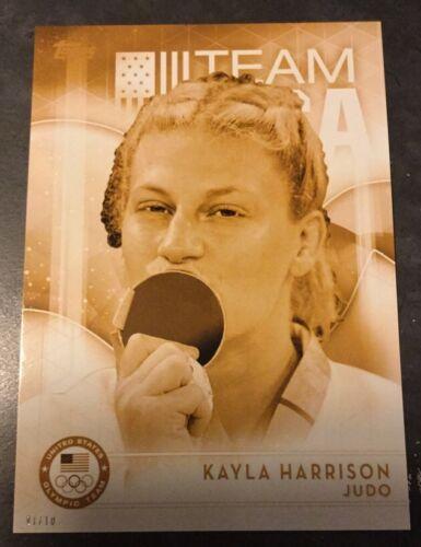 2016 Topps Olympics Gold 5X7 Jumbo Card Kayla Harrison USA Judo #//10 Rare