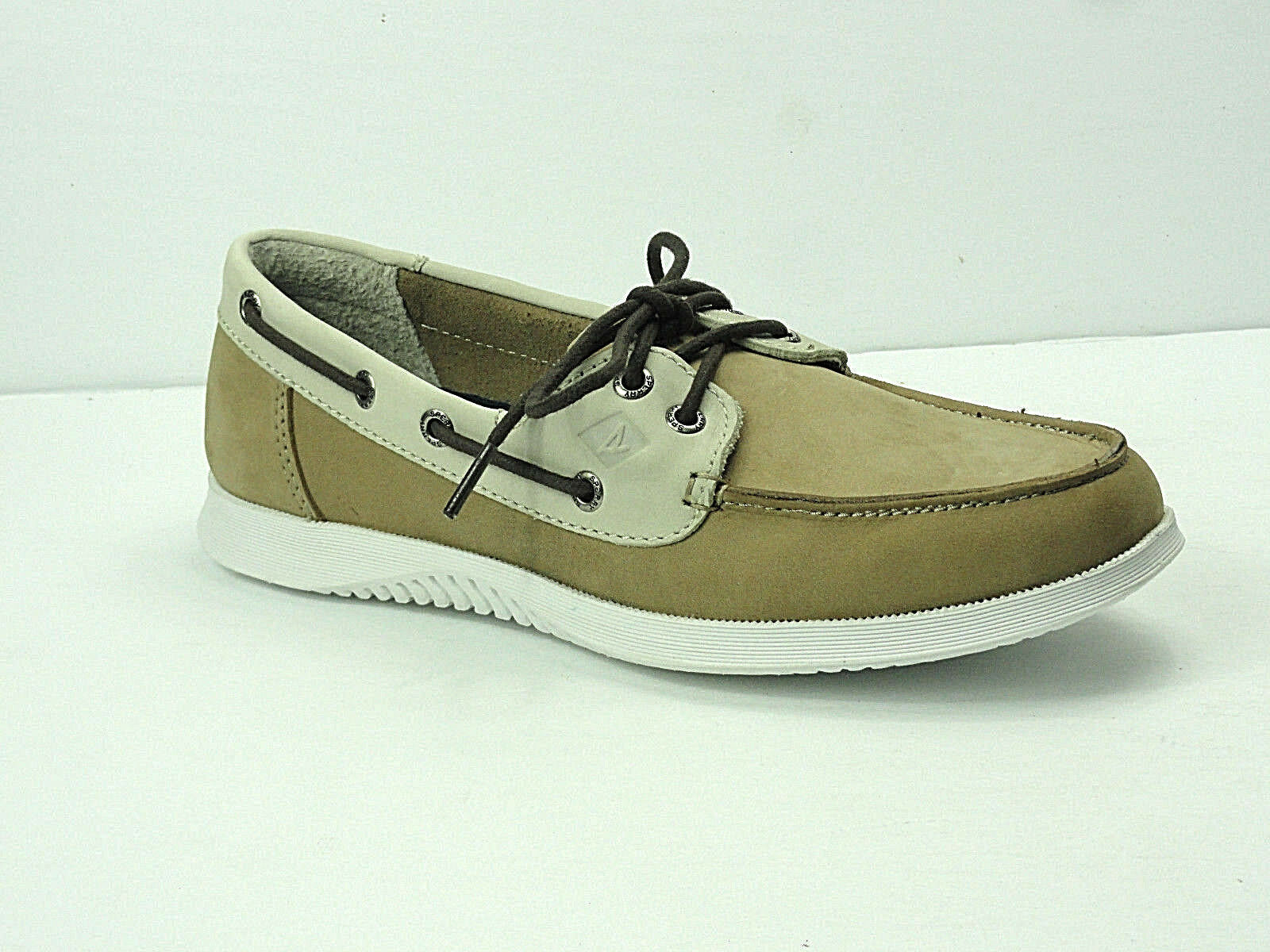 Men's Sperry Top-Sider Defender 2-Eye Taupe Boat shoes
