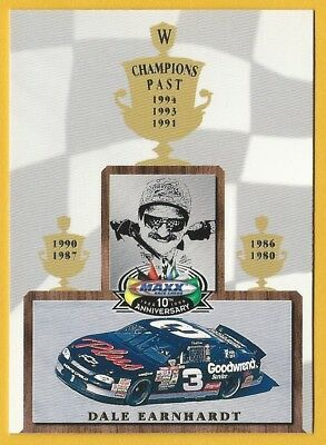 1998 Upper Deck Maxx 10th Anniversary Champions Past #CP3 Dale Earnhardt Card