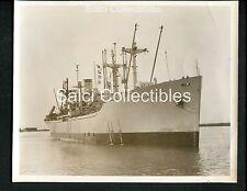 WWII US Navy Transport Troop Ship USS AP188 Aiken Victoria Original Photo 8x10