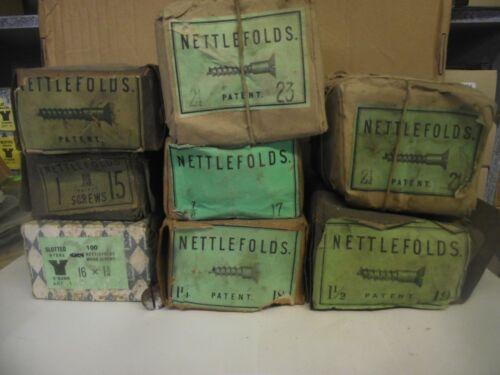 SLOTTED STEEL CSK WOOD SCREW NETTLEFOLDS SIZES 15-16-17-18-19-20-21-22 /& 23