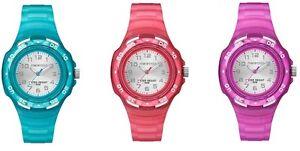 Timex-Marathon-Silver-Dial-Clear-Resin-Strap-Ladies-Children-GirlsWatch